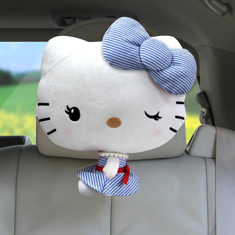 規格品Hellokitty自動車ヘッドレスト護頚枕可愛いアニメ車用首クッション車枕枕