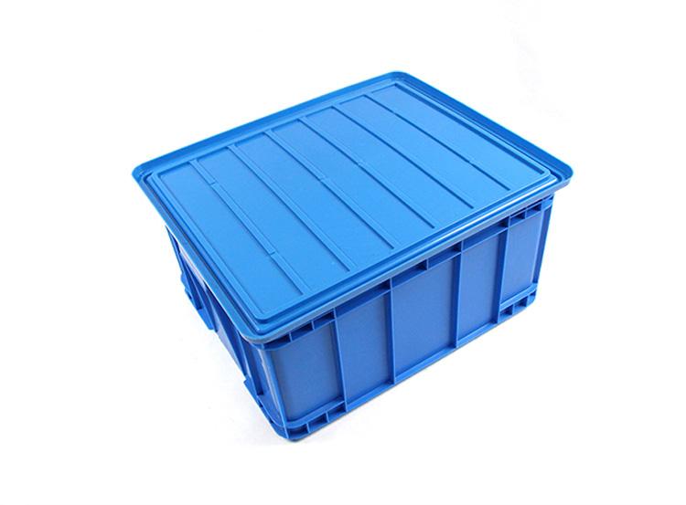 omsättningen av plast logistic logistiska ram rektangulära fält. en del av fält plast behållare locket
