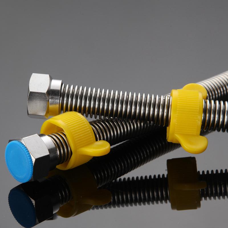 4 puntos de tubo de acero inoxidable de alta presión del calentador de agua caliente y fría a la manguera tubo de agua de agua del inodoro de acero 304