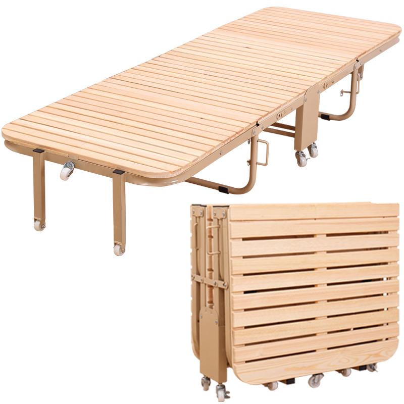 Le lit est petit de l'économie domestique de bois de lit d'enfant à l'heure de la sieste adulte lit pliant des feuilles de bois de pin simple double