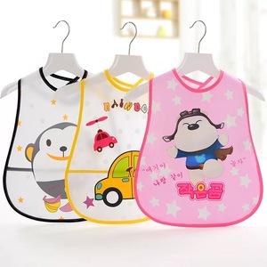 宝宝立体口水巾婴儿童食饭兜EVA围兜围嘴防水罩衣