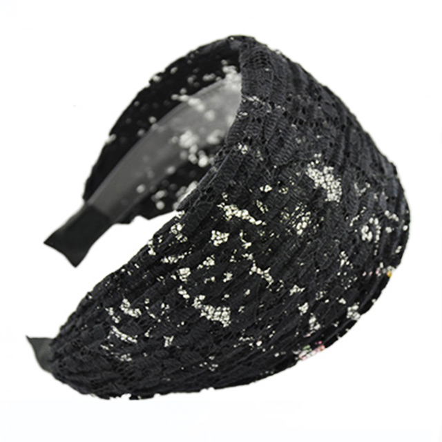 South Korean luxury cloth lace headband wide toothed slip hoop with simple hair headdress