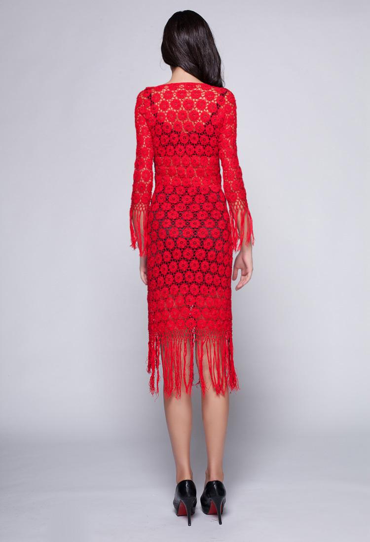 2015春夏新款手工针织连衣裙红色流苏时尚女装镂空范冰冰同款 - Alice  NancY 馨儿 - Alice  NancY  馨儿的博客