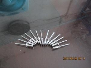 заклепка алюминия, алюминиевых украшения гвоздь вытащить гвоздь заклепка установлены заклепка