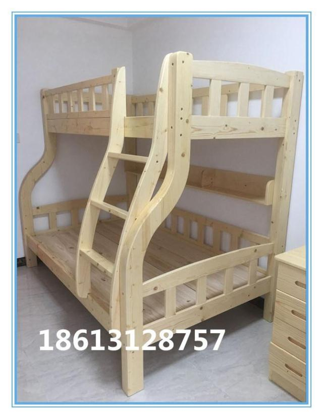 Guangzhou pine furniture custom wooden Japanese tatami bed and the whole wardrobe storage bed custom-made