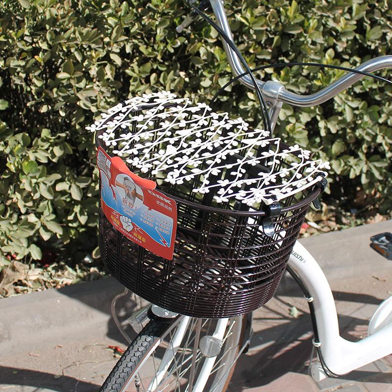 La cesta de la tapa cubre las importaciones de bicicletas plegables de Japón antes y después de la canasta de una red de protección antirrobo telescópico de ella.