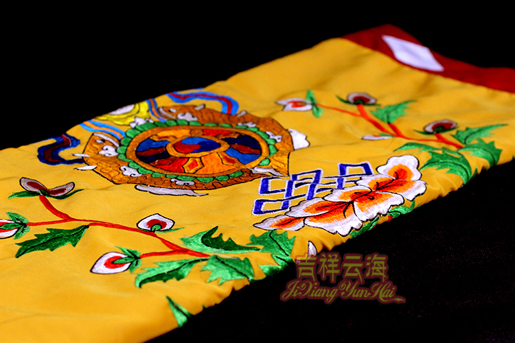 Eight auspicious combination of six word mantra curtain, Nepal embroidery cotton cloth cloth curtain partition curtain
