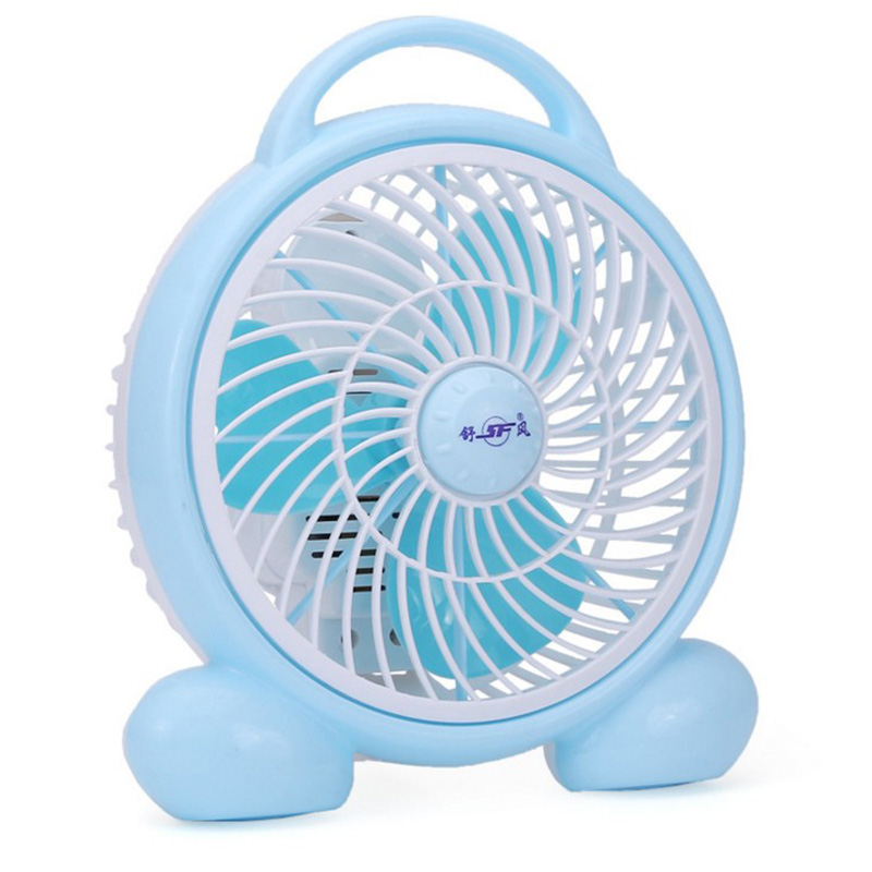 The big white cartoon fan dormitory small fan fan desktop office bedroom bedside mini fan