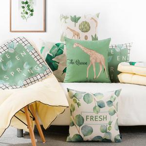 北欧清新文艺ins抱枕被子两用汽车抱枕被加厚空调被子多功能靠枕