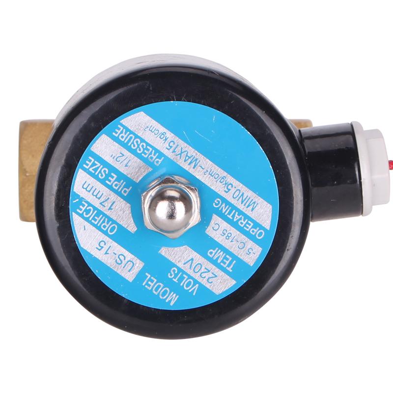 銅製バルブ耐高温電磁弁配管電気制御バルブ220 V蒸気