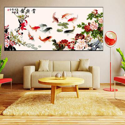 diy数字油画填色画 客厅餐厅风景动物花卉人物大幅手绘手工装饰画