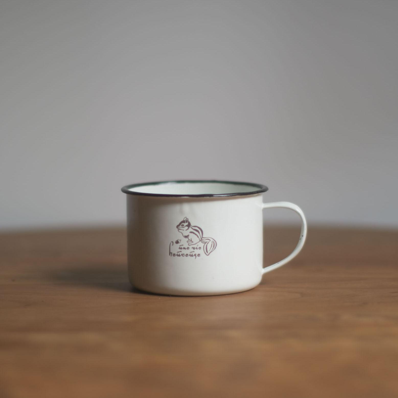 樸房 復古懷舊搪瓷咖啡杯 胖呼呼的好有趣 約410ml