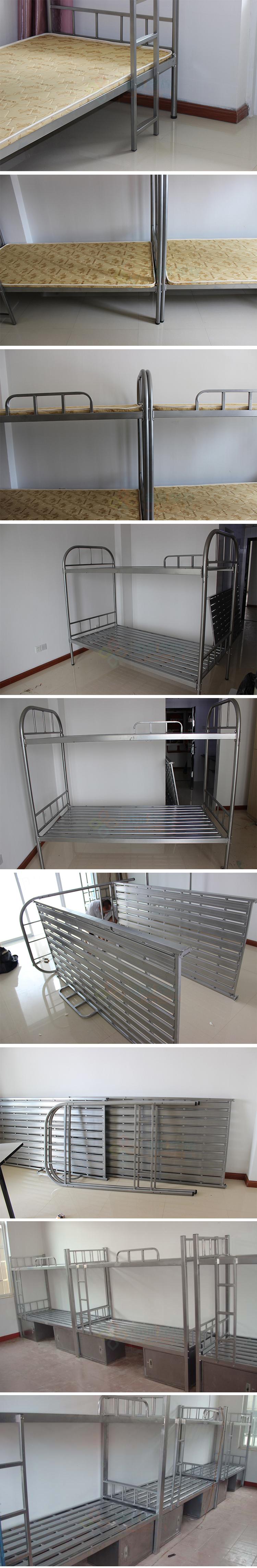 高低床上下铺学生公寓床员工双层钢架铁床宿舍多层实木板