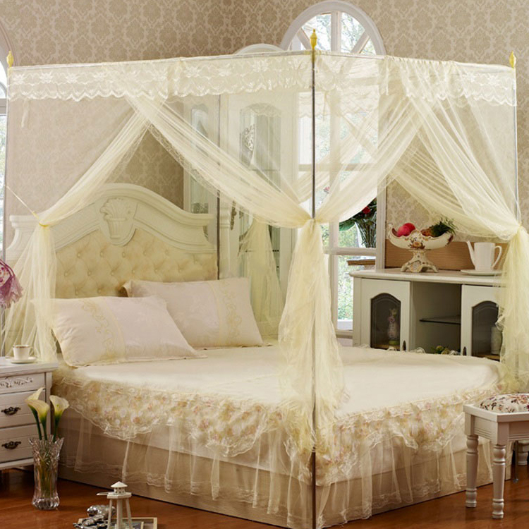 N mosquito net three open door landing bracket, thicken stainless steel pipe, mosquito net pole, rack, bed frame, mail