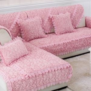 冬季沙发垫简约现代沙发套法兰绒欧式布艺防滑坐垫毛绒加厚沙发巾