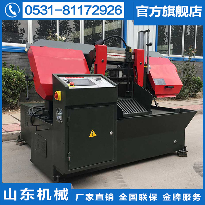 The factory directly sells GS320 single column CNC metal band sawing machine, large processing automation equipment factory machine saw blade
