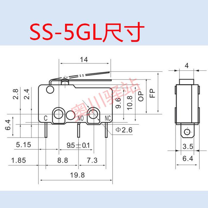 I Fabbricanti di vendita Vera e propria Micro interruttore SS-5GL limitare il passaggio ZW10-B5A i contatti di Rame