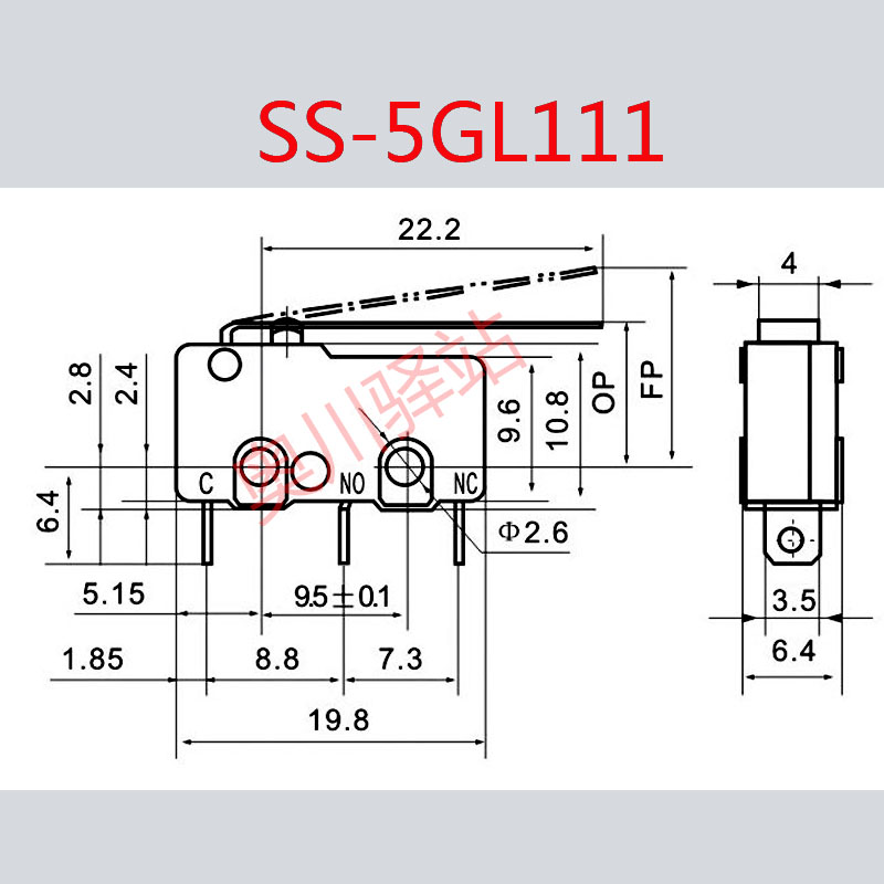 megas mikrospínač pojistky SS-5GL111 koncové spínače ZW10-C měď kontakty.