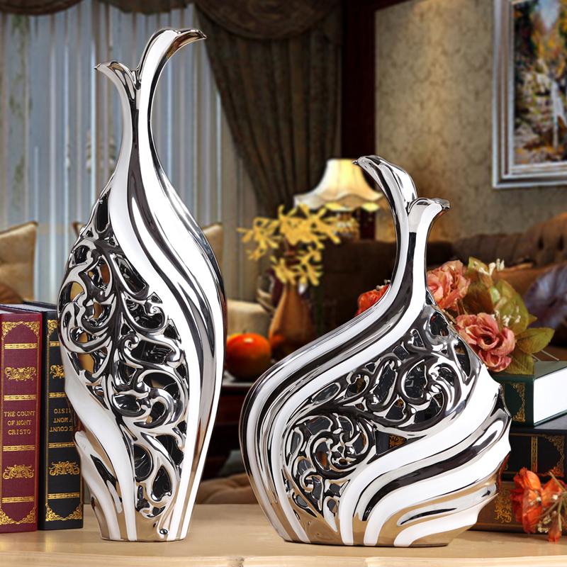 白條花瓶大1套(高矮)櫥柜裝飾品擺件古董架博物架客廳柜子電視柜玄關家居擺設藝術歐式