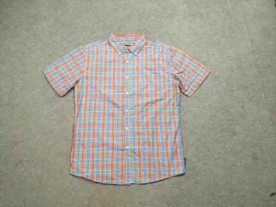 滑板街头格子短袖衬衫原单