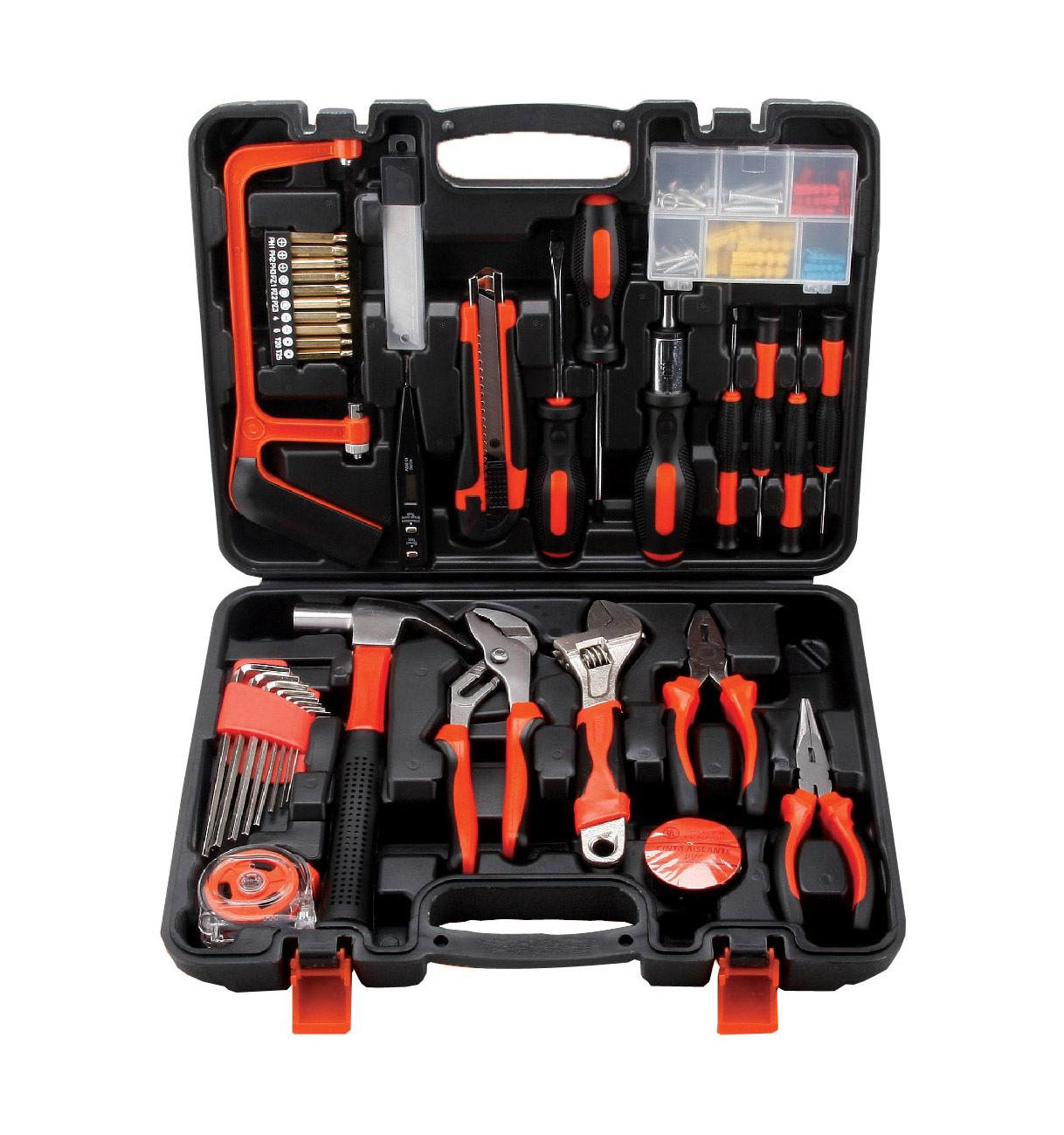 La cassetta degli attrezzi per la Lavorazione DEL LEGNO e di strumenti professionali Multi - funzione Hardware elettrico portatile del Mix di strumenti portatili di riparazione.