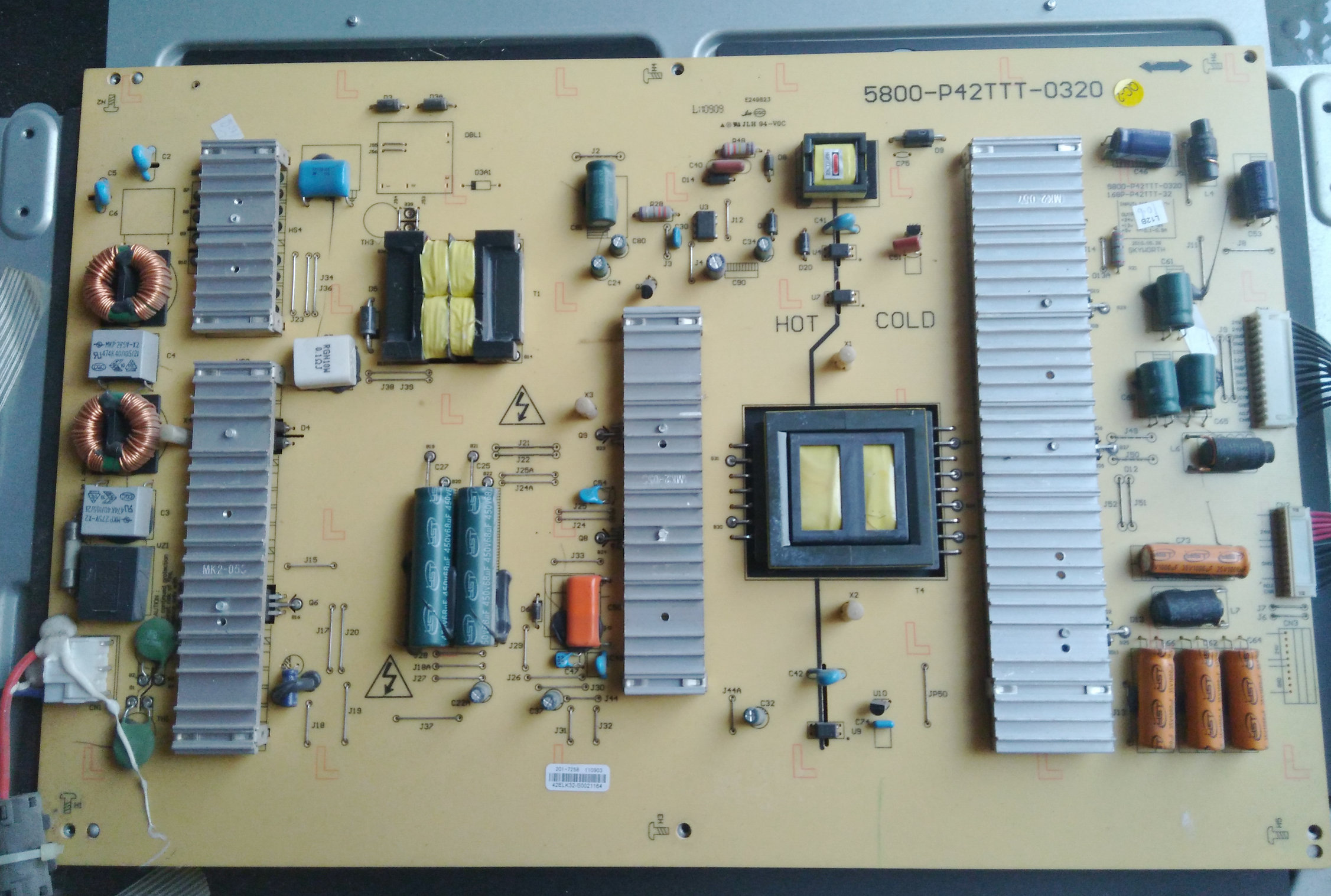 SKYWORTH 42E60HR LCD TV power board 5800-P42TTT-0320168P-P42TTT-32