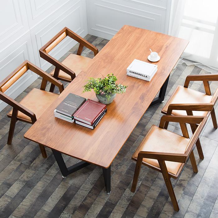 La réunion de travail du village de table en bois de meubles de bureau américain de fer de la table de négociations de table pour une simple combinaison de tables et de chaises