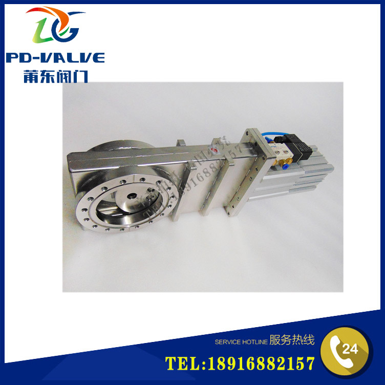 Stainless steel ultra high vacuum flapper valve, stainless steel super high vacuum flashboard valve CC-25