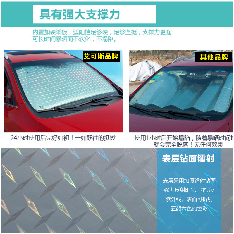 Lang Yiang Cora car sun block laser sun block with a heat insulation curtain shading front windshield
