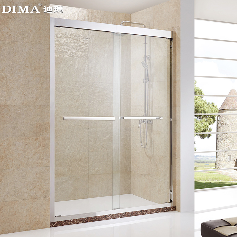 Bath room, stainless steel simple shower room, whole figure shaped partition screen, bathroom, bathroom