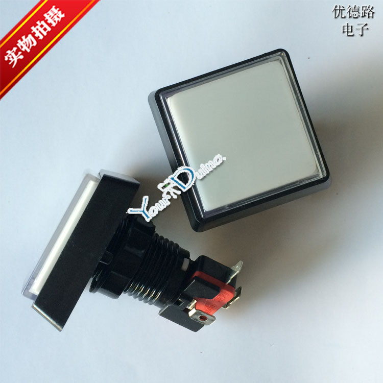 Square game machine, bevel button, Chinese button button switch, game machine accessories with light button