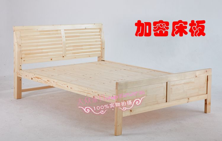 The whole village promotion old carpenter pine wood are wooden bed / single bed double bed