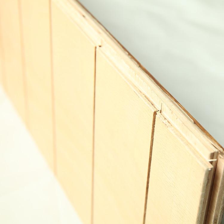 Meurtres sen Carver Peach Red Oak multicouche composite en bois à la lumière des États - Unis pour chauffer le sol E0 cire d'huile de bois de dalles