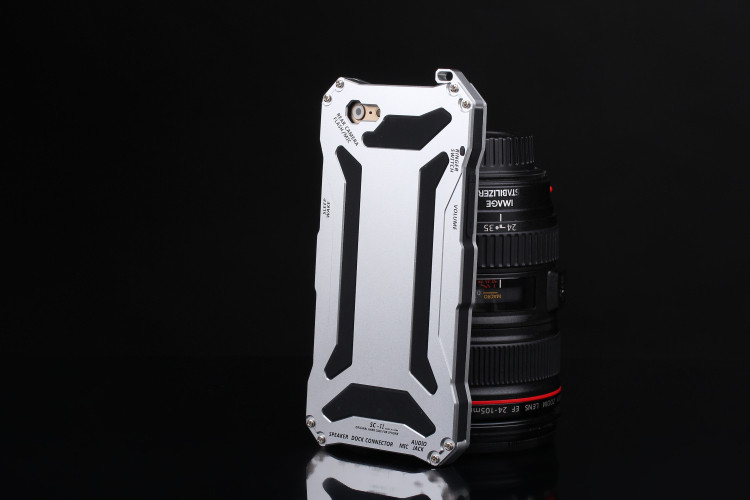 S.CENG Gundam Water Resistant Dustproof Shockproof Silicone Gorilla Glass Aluminum Alloy Metal Case Cover for Apple iPhone SE/5