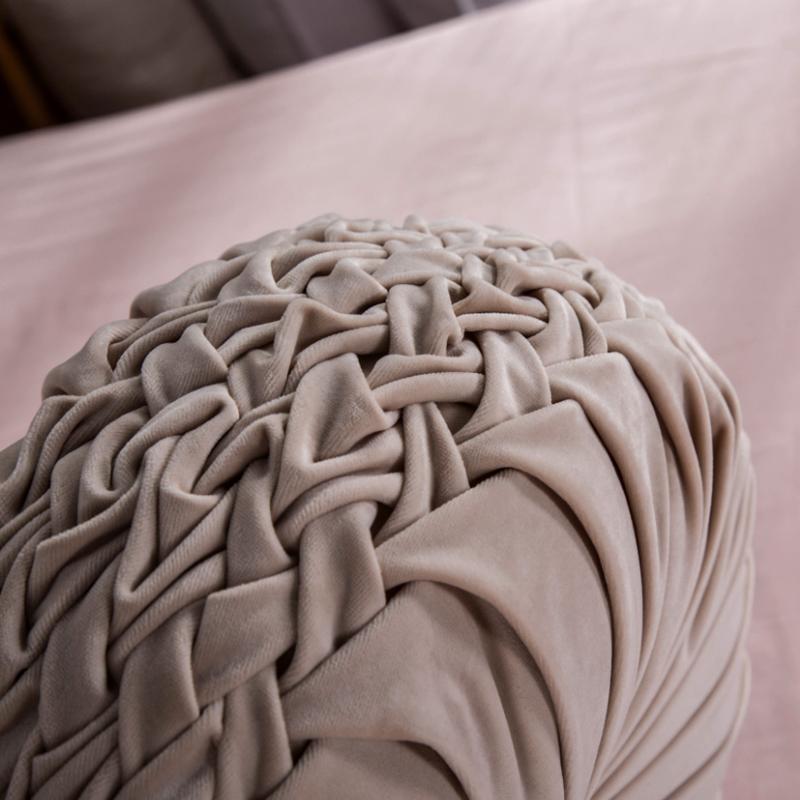 多機能のアメリカン無地モケットカボチャ欧風のクッション腰垫抱き枕枕枕寝室ソファ