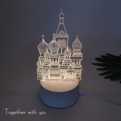 3d小夜灯led立体台灯插电卧室床头灯情人节男女生日礼物创意梦幻
