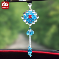 DIY handmade beaded crystal car pendant, eight sides to finance material package, scattered beads weaving, creative jewelry production