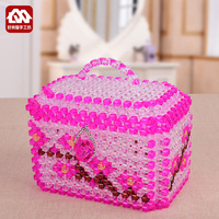 2017 hot DIY handmade beaded home appliances collection box, treasure chest material package beads weaving process