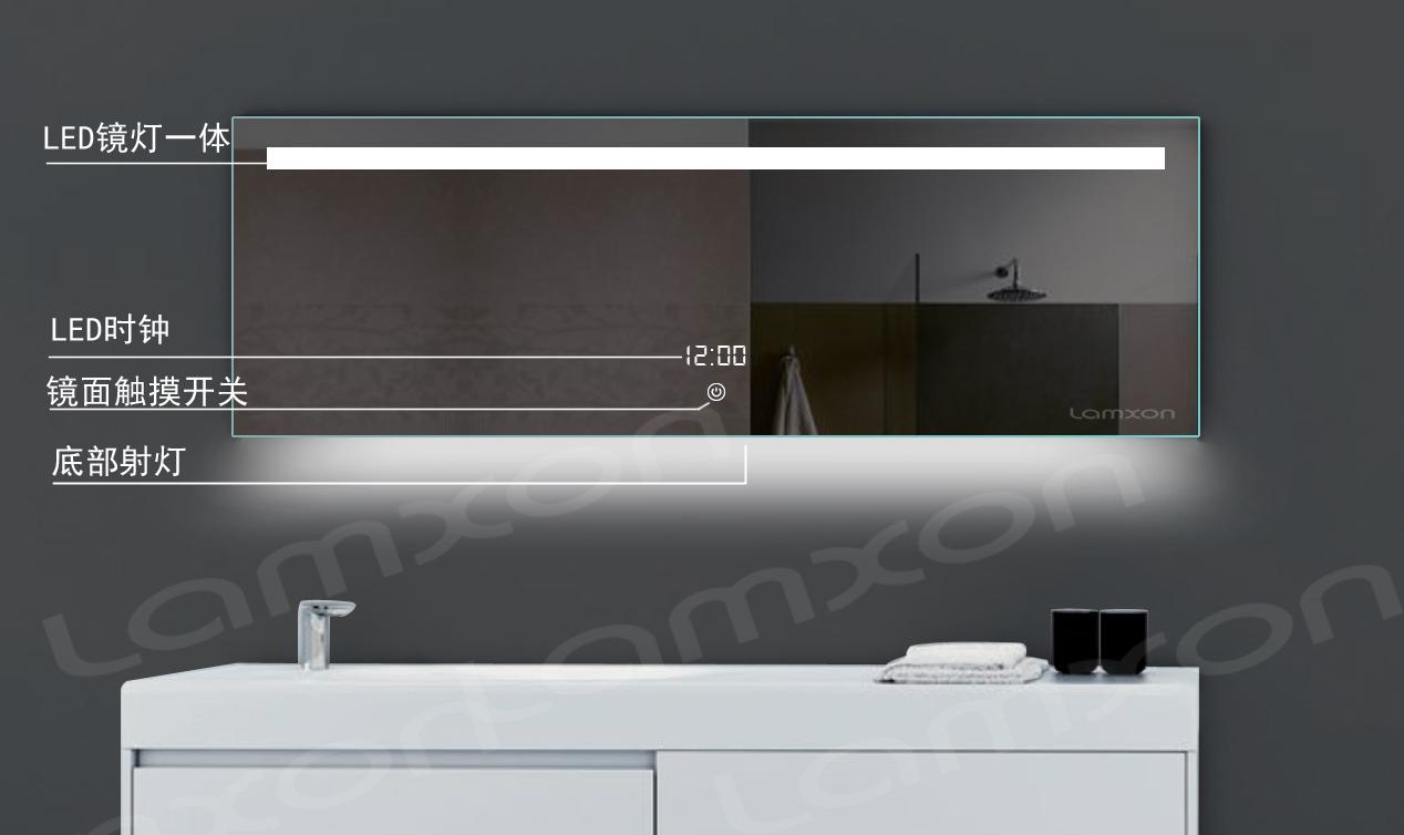 莱姆森led灯镜防雾浴室镜卫浴镜出口简约美式欧式壁挂卫生间镜子_图4