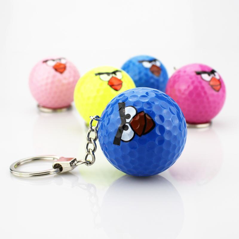 The golf ball golf golf gift gift Keychain ball Keychain multicolor bird