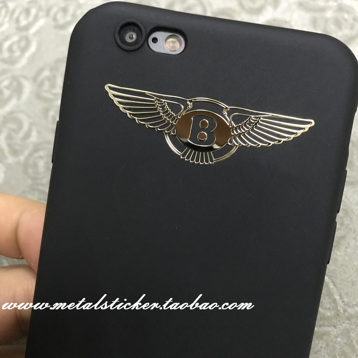 ベントレーlogoめっき金属は、個性的なDIYのモデル金属には、携帯電話機ケースシールを貼って