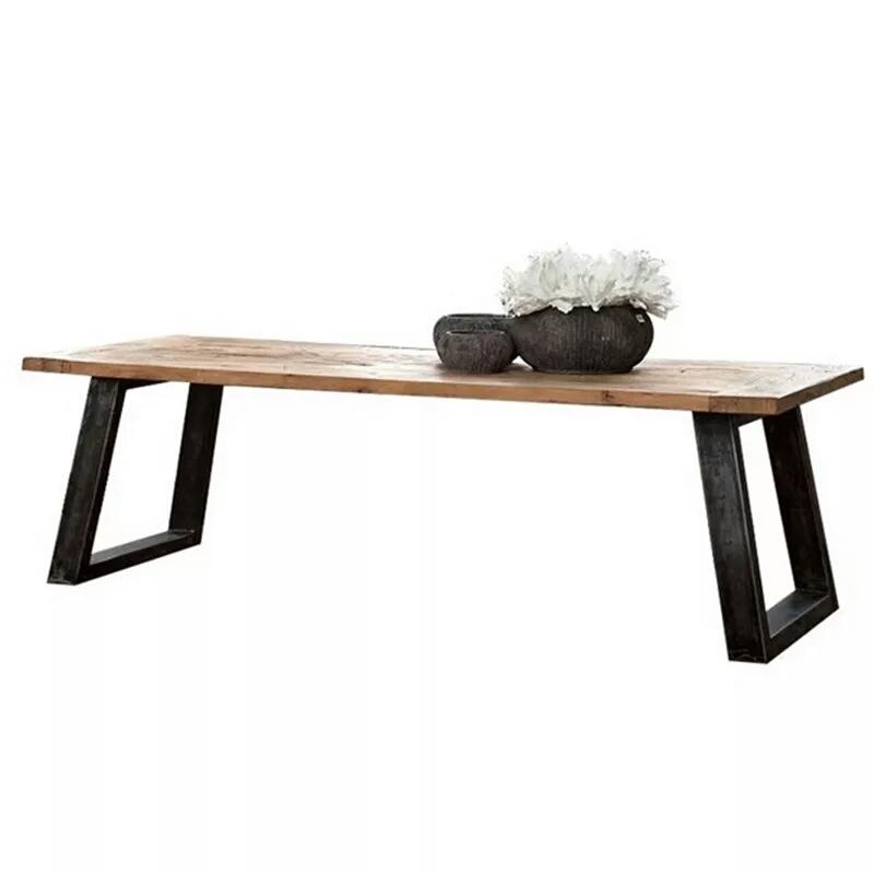 Ensemble poteau de bois massif de fer de chaise de table de combinaison d'air industriel de bureau table ancienne table de négociation simple moderne rétro -