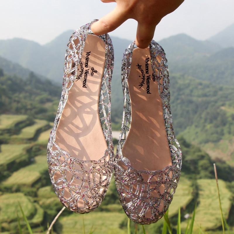 夏季女鞋沙滩平底鸟巢