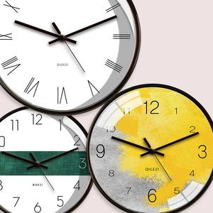 现代简约小钟表家用时钟 挂钟客厅个性创意时尚北欧静音石英钟