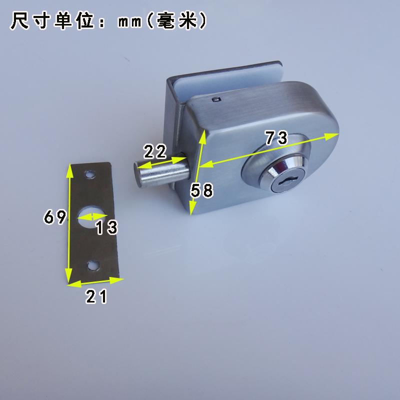 Glass door lock with a key lock bolt frameless glass door locked glass door lock free opening door