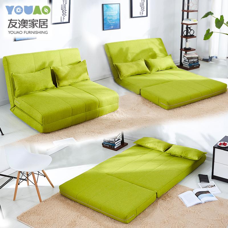 ソファーベッドの簡約としては、1メートルの2メートル、小型タイプのリビングルームの多機能両用