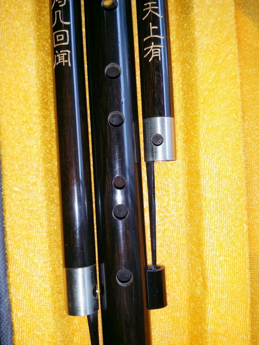 F. El tubo de cobre con incrustaciones de ébano natural de calabaza y de letras de alto Reed vibración sensible marca tres tonos de cucurbitáceas.