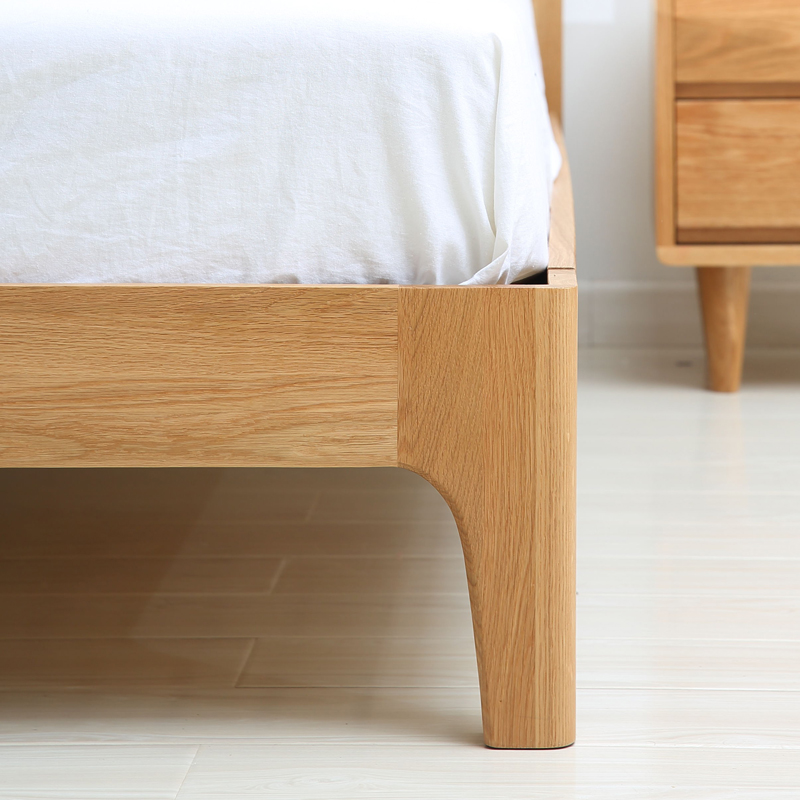 Nordic pure Japanese oak double bedroom furniture, European style and modern simple environmental protection