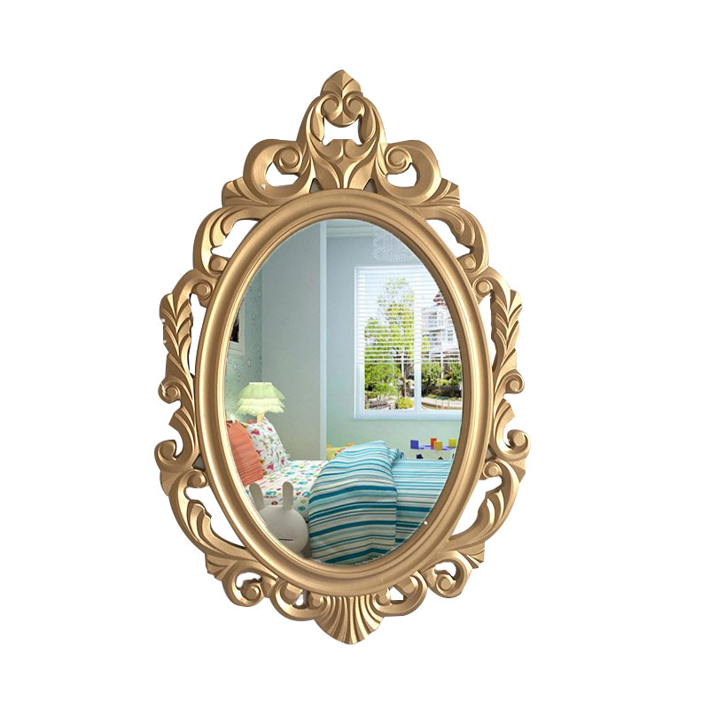 Decorative mirror bathroom mirror hanging small cosmetic Restroom magnifying lens inside the bathroom wall type combination