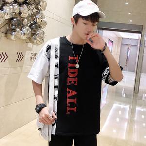 男士短袖T恤潮牌潮流个性休闲港风半袖ins超火的上衣韩版体恤衣服